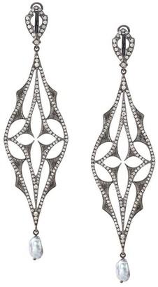 Loree Rodkin Diamond Drop Pearl Earrings