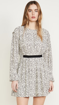 Jason Wu Inverse Floral Long Sleeve Dress
