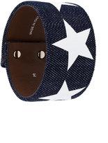 Givenchy stars sleeve denim bracelet