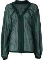 Ann Demeulemeester sheer zip blouse