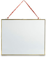 "Nkuku Kiko Antique Brass Landscape Frame - 4x6"""
