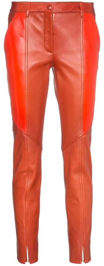 Givenchy panelled leather skinny trousers