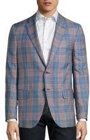 Isaia Regular-Fit Plaid Wool & Silk Blazer