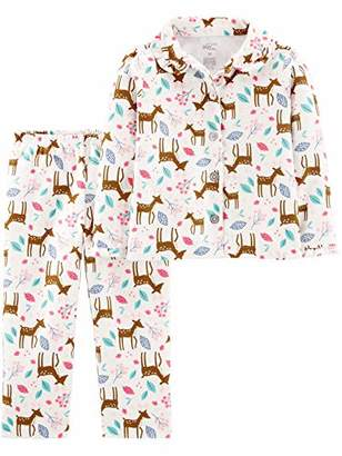 Carter's Simple Joys by Girls' 2-Piece Coat Style Pajama Set