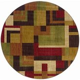 Contemporary Area Rug, Oriental Weavers Sphinx Allure 8' Round Multi