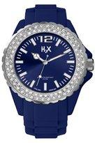 Haurex H2X Women's SS382DB1 Reef Stones Luminous Water Resistant Blue Soft Rubber Watch