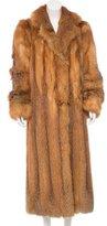 Valentino Red Fox Fur Coat