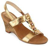 Liz Claiborne Lonnie H-Strap Wedge Sandals