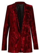 Haider Ackermann Madame single-breasted velvet jacket