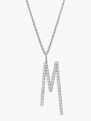 Mimi So Type Letter Pave &M& Pendant