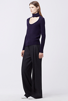 Diane von Furstenberg Gracey Cut-Out Turtleneck Sweater