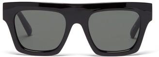 Le Specs Subdimension Square Acetate Sunglasses - Black