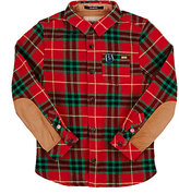 Scotch Shrunk PLAID TWILL SHIRT-RED SIZE 6