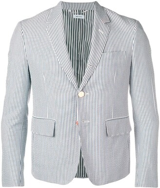 Thom Browne Seersucker High-Armhole Sport Coat