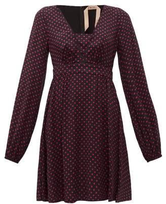 No.21 No. 21 - Polka Dot Mini Dress - Womens - Black Pink