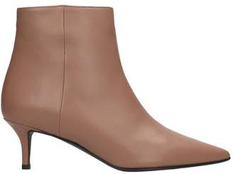 Marc Ellis High Heels Ankle Boots In Taupe Leather