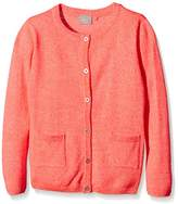 Name It Girl's Button Front Long Sleeve Cardigan - Orange