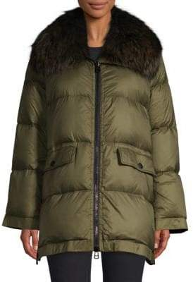 Yves Salomon Army by Fox Fur Puffer Jacket