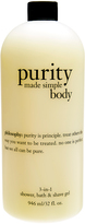 philosophy Purity Made Simple 32-Oz. 3-in-1 Bath Shower & Shave Gel
