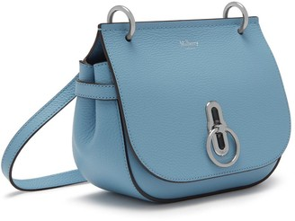 Mulberry Small Amberley Satchel Pale Slate Small Classic Grain