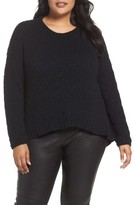 Eileen Fisher Plus Size Women's Round Neck Organic Cotton Crop Sweater