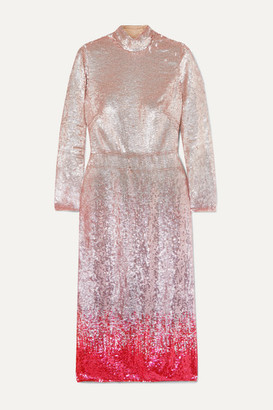 Temperley London Opia Open-back Degrade Sequined Crepe Midi Dress - Pink