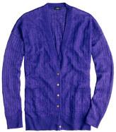J.Crew Linen cable-knit cardigan