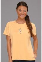 Life is Good Pelican Crusher Tee (Tangerine Orange) - Apparel