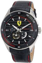 Ferrari Men's 0830099 Analog Display Japanese Quartz Black Watch