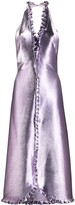 Temperley London metallic halterneck midi dress