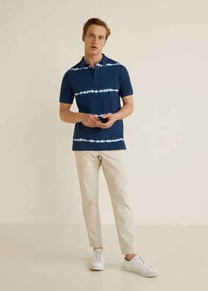 MANGO MAN - Tie-dye print polo navy - XS - Men