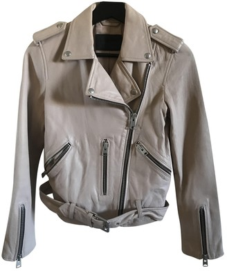 AllSaints Pink Leather Jacket for Women