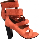 Chloé Orange Leather Heels