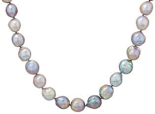 """Honora Gray Ming Cultured Pearl Sterling 36""""Necklace"""