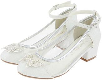 Monsoon Amelia Sparkle Butterfly Princess Shoes Silver