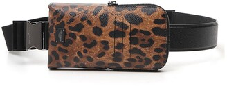 Dolce & Gabbana Leopard Print Smartphone Crossbody Bag