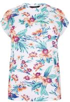 Yours Clothing YoursClothing Plus Size Womens Ladies Tee Top Shirt Bright Floral Print