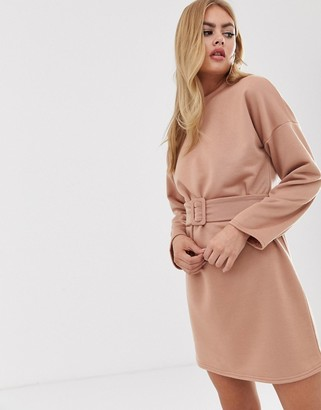 Asos Design DESIGN mini belted sweat dress
