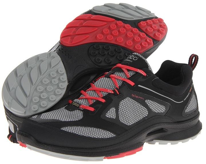 Ecco Sport - Biom Ultra Quest GTX (Black/Concrete/Teaberry Synthetic/Textile/Decoration) - Footwear