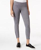Calvin Klein Zip-Hem Capri Leggings