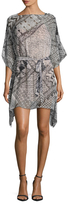 BCBGMAXAZRIA Caley Graphic Print Tunic Dress