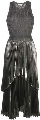 Altuzarra knitted metallic finish Mishka dress