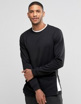 Lindbergh Sweatshirt With Side Zip In Black