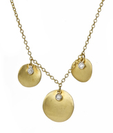 Meira T Triple Disc with Diamond Accent Necklace
