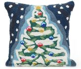 Liora Manné Frontporch Christmas Tree Square Indoor/Outdoor Throw Pillow in Navy