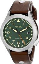 Fossil Men's Aeroflite AM4553 Leather Leather Quartz Watch