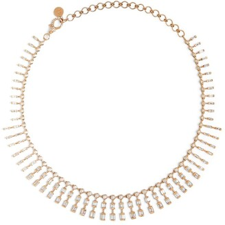 Shay Rose Gold and Diamond Triple Dot-Dash Necklace