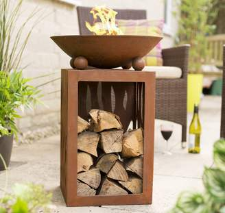 La Hacienda Ochiba Firepit with Log Store