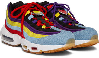 Nike 95 Sp Denim, Canvas And Mesh Sneakers