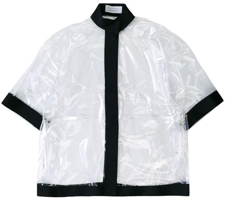 Gianluca Capannolo transparent band collar coat